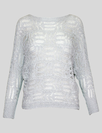 Lurex Crochet Jumper