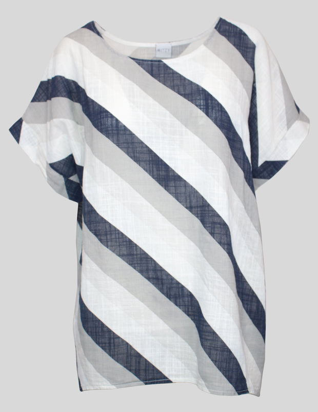 MITZY Diagonal Stripe Top