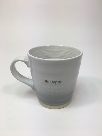Be Happy Embossed Mug
