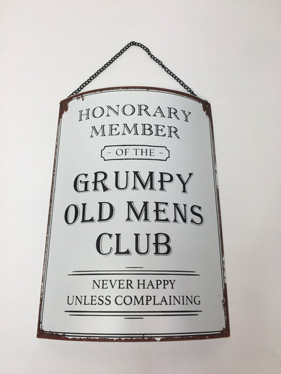 Grumpy Old Mens Club Plaque