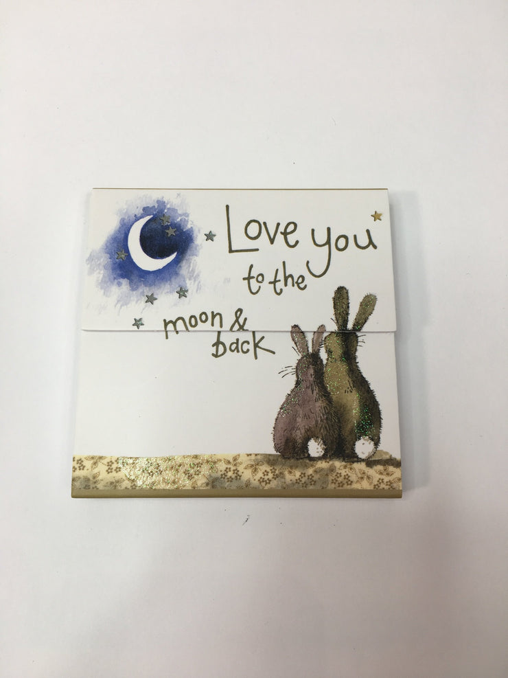Alex Clark Love You To The Moon and Back Mini Magnetic Notepad