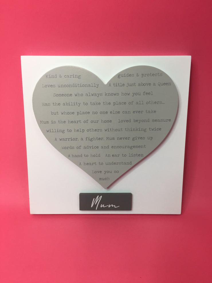 3D heart plaque