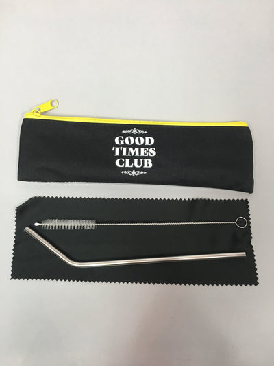 Good times club reusable straw