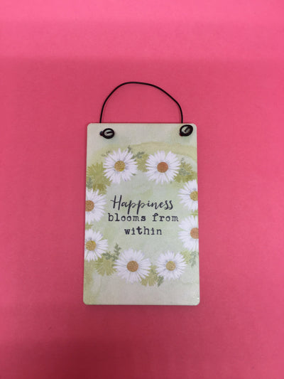 Happiness blooms motto tag