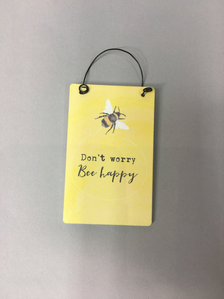 Don't worry motto tag