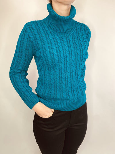 MITZY Long Sleeve Cable Cowl Neck Jumper