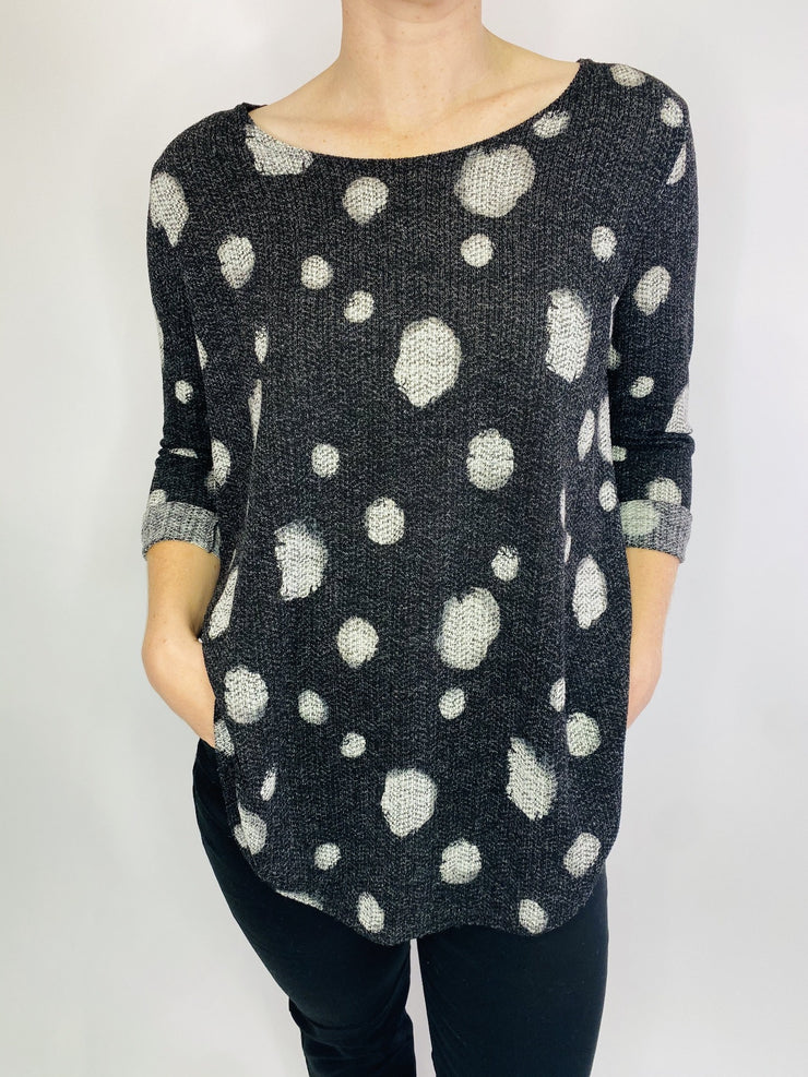 MITZY Spot Textured Brushed Top