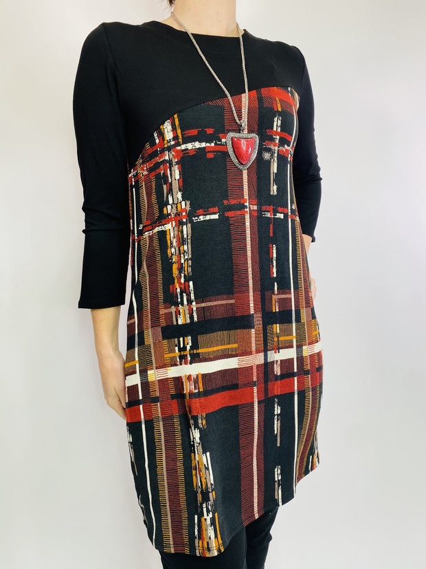 Saloos Check Colour Block Tunic
