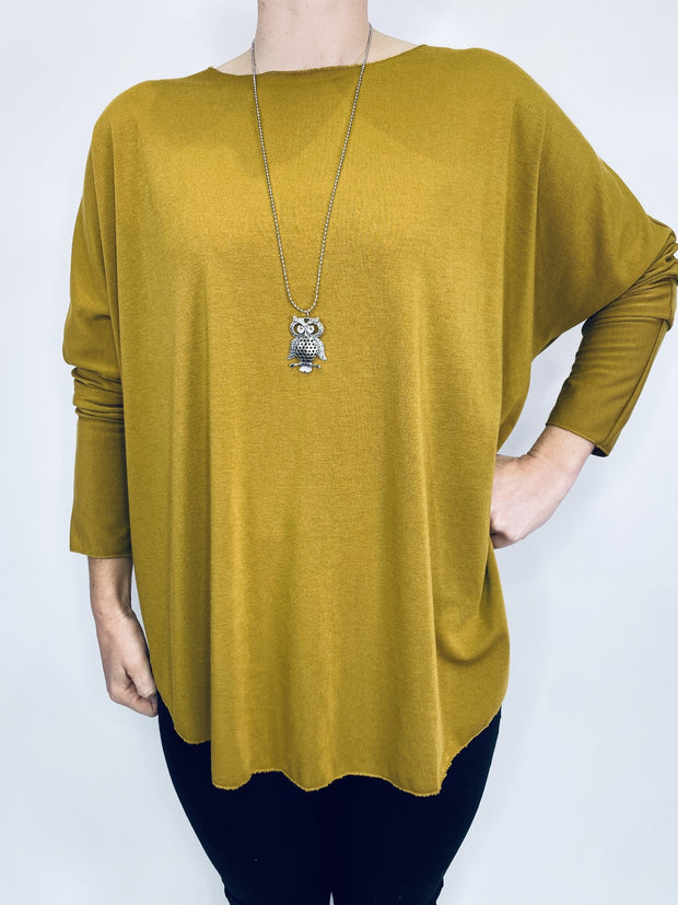 Soft Touch Swing Top With Necklace