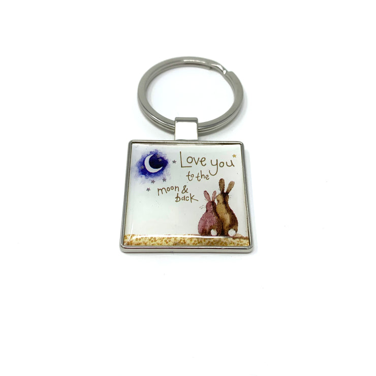 Alex Clark Love You To The Moon & Back Keyring