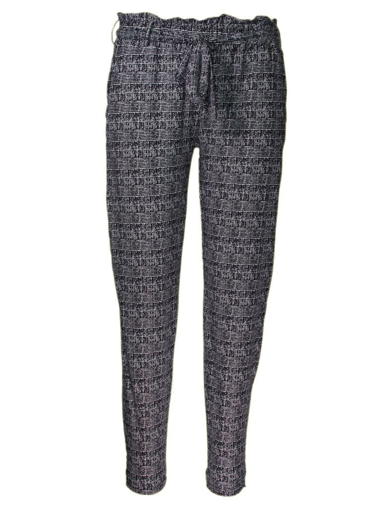 MITZY Check Print Trouser