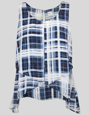 MITZY Layered Check Print Top