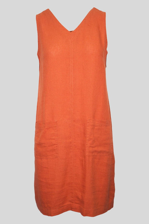 Sleeveless Linen Mix Dress