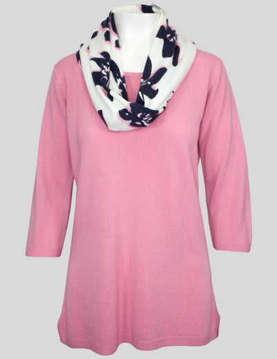 MITZY Printed Snood Jumper
