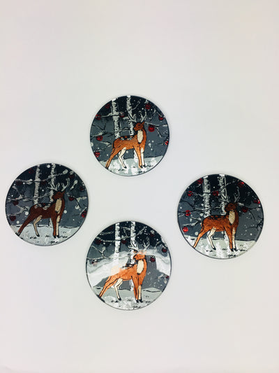 Stag set of 4 coasters