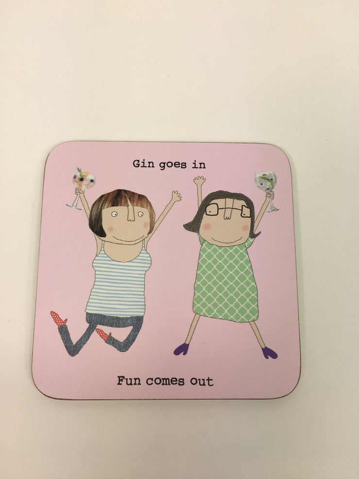 Rosie Made a Thing Gin Coaster