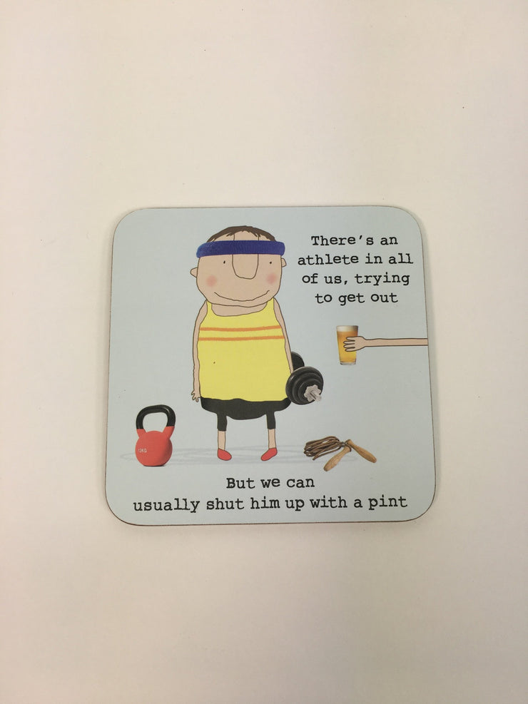 Rosie Made a Thing Pint Coaster