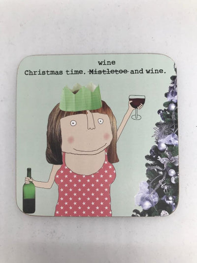 Rosie Made a Thing Wine & Wine Coaster
