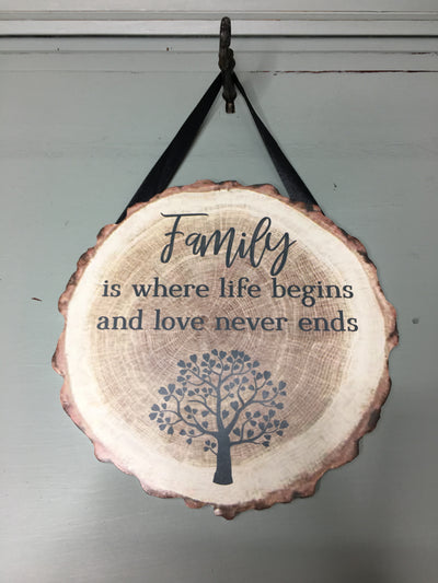 Wooden Family Tree Plaque