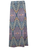 Diamond Zigzag Print Maxi Skirt