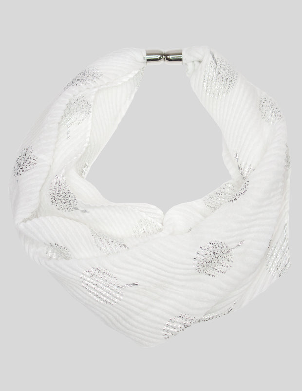 MITZY Tree Of Life Crinkle Scarf