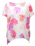 Bright Palm Print Oversized T-Shirt