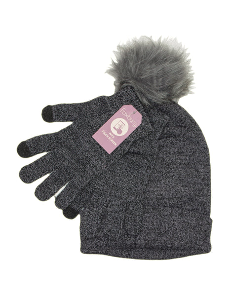 Bobble Hat and Glove Set