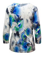 Jumper With Watercolour Print And Sparkle