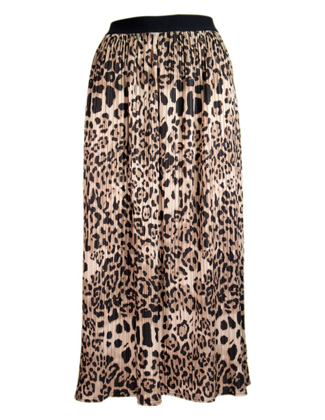 Animal Pleated Skirt