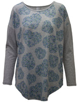 Soft Touch Tunic With Swirling Heart Print