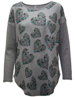 Soft Touch Tunic With Spring Heart Print