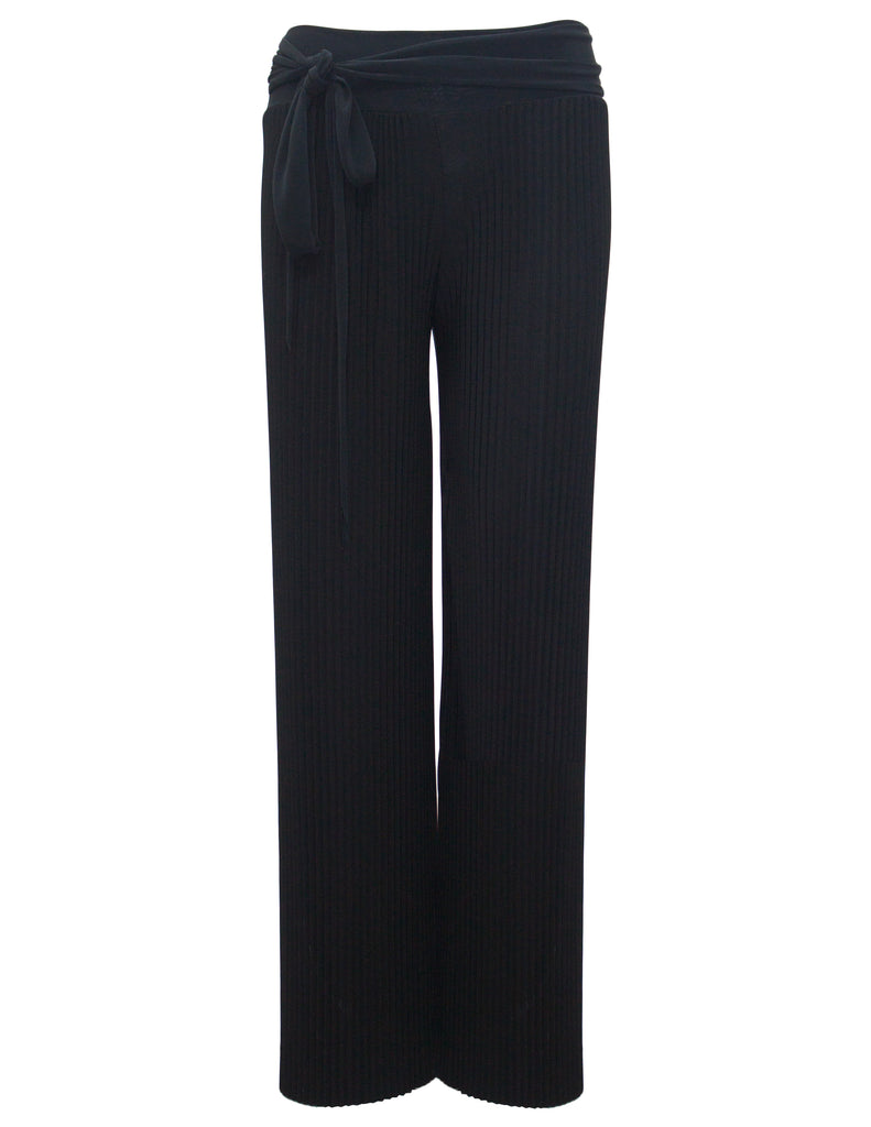 Pleated Trousers With Tie Waist