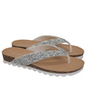 Glitter Toe Post Sandal