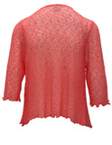 MITZY Shrug In Texture With 3/4 Sleeves