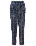 Trousers With Tie Waist In Heather Print