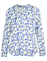 Butterfly Print Button Detail Blouse