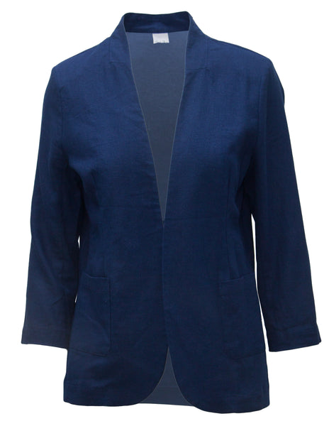 Casual Linen Jacket With Pockets