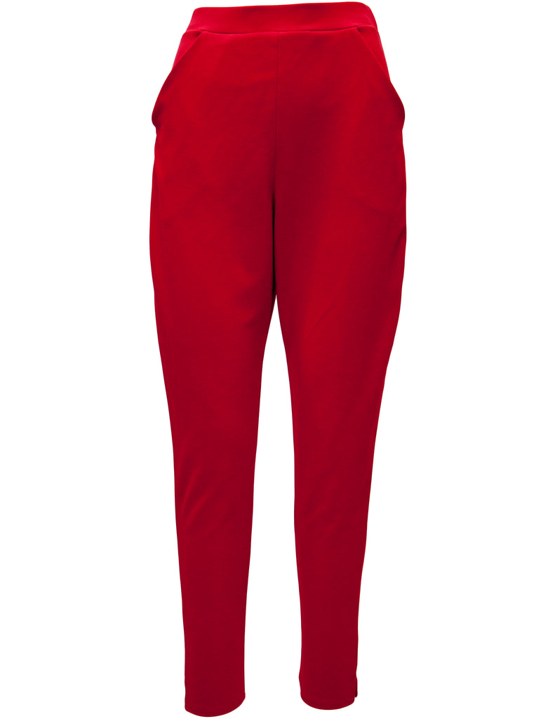 High Waist Crepe Cigarette Trousers