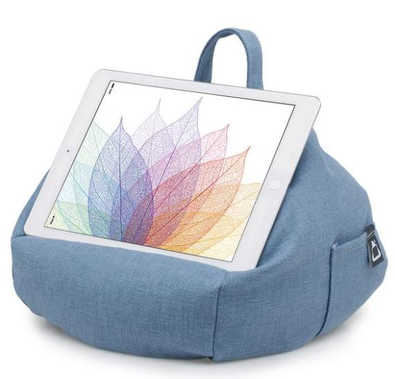 iBeani Denim Blue Tablet Bean Bag Stand