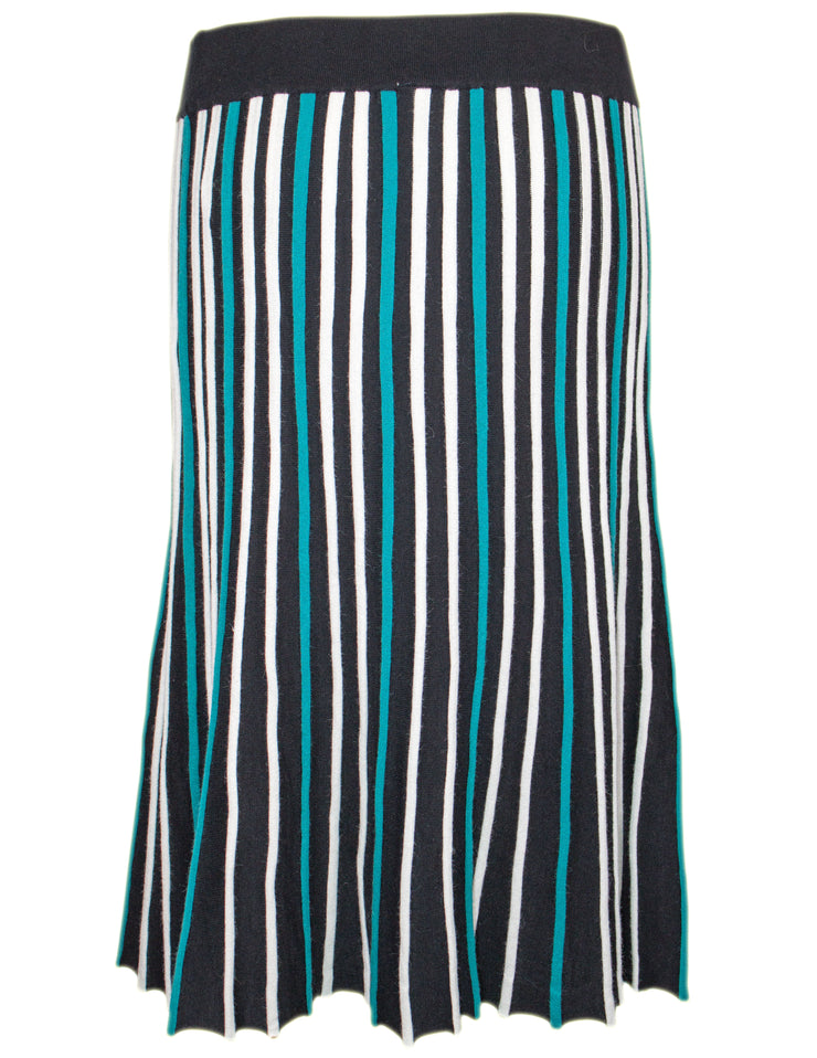 MITZY Knitted Stripe Midi Skirt