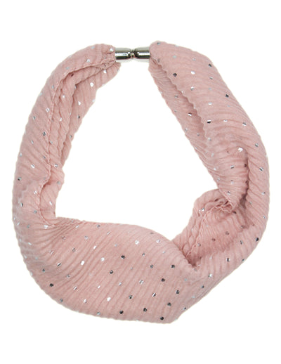 MITZY Foil Crinkle Magnetic Clasp Scarf