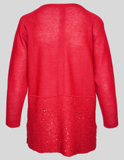 MITZY Block Sequin Rib Detail Jumper