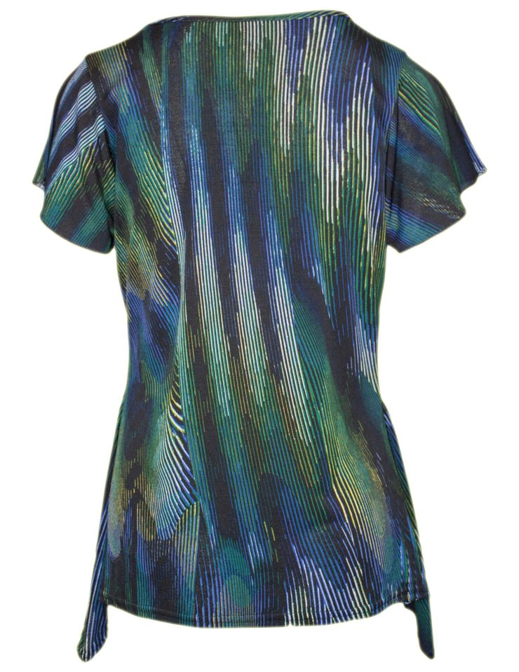 MITZY Abstract Print Waterfall Top