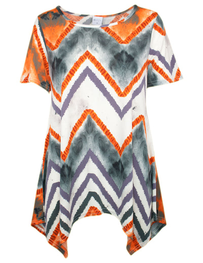MITZY Smokey Zig Zag Waterfall Top