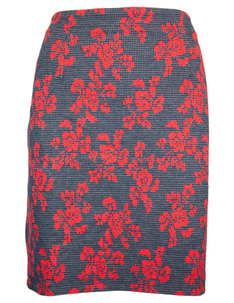 Floral Dogtooth Skirt