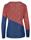 Long Sleeve Block Animal Print Jumper