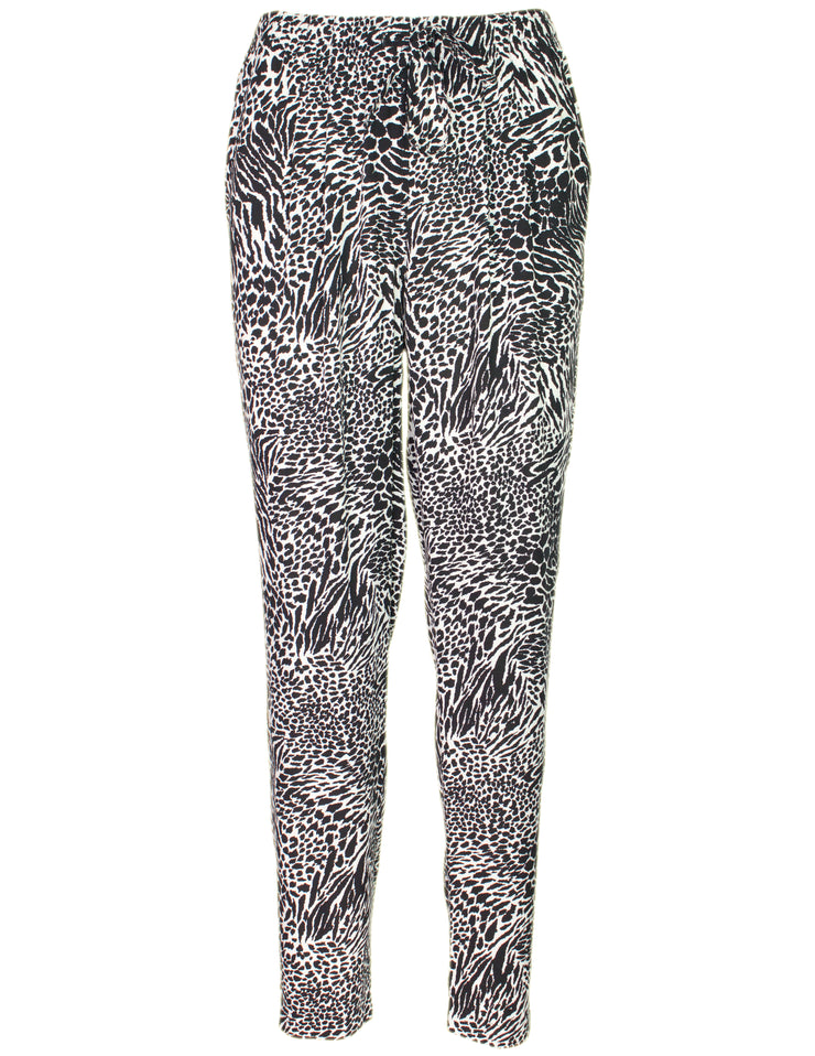MITZY Animal Print Woven Trouser