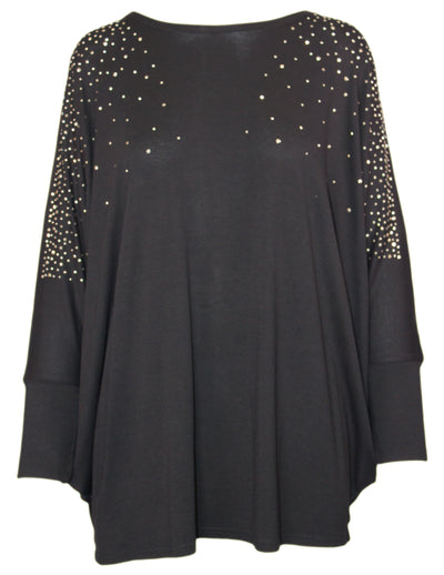 MITZY Scattered Stud Batwing Top