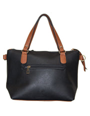 MITZY Contrast Handle Small Tote Bag