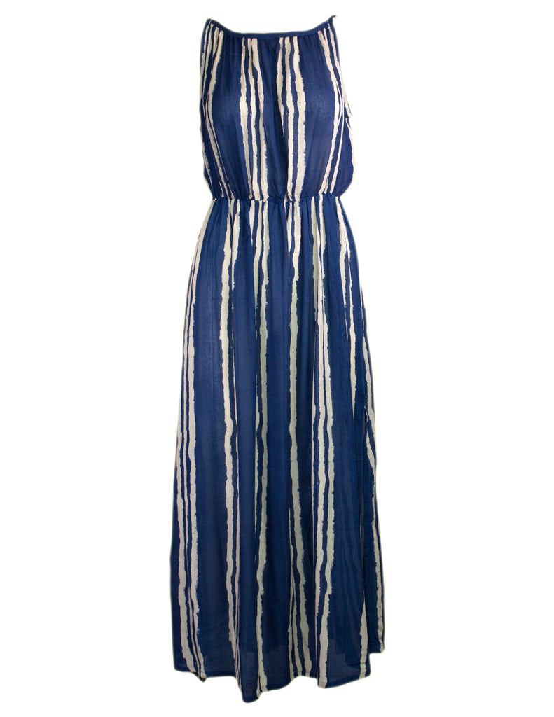 MITZY Strappy Stripe Midi Dress